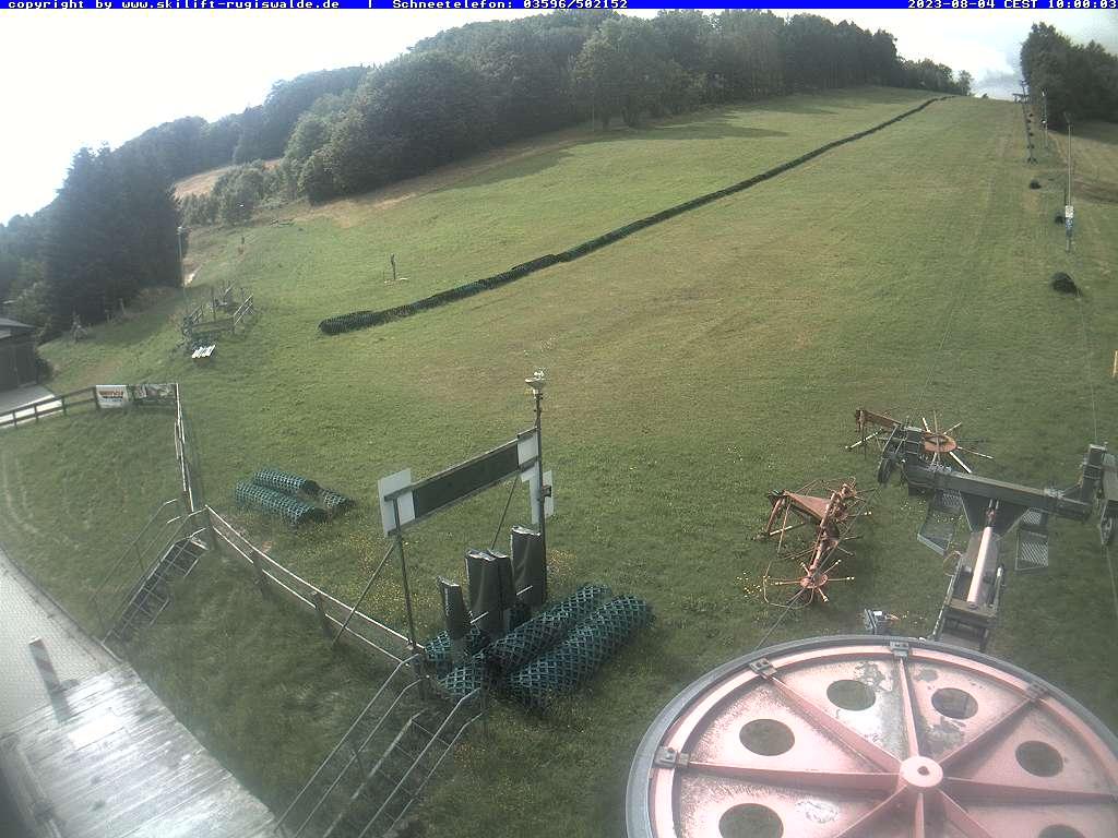 Bild zeigt Skihang in Rugiswalde - aufgenommen von der Webcam